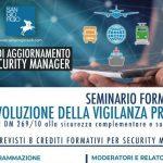 Seminario formativo per acquisizione crediti formativi per Security Manager